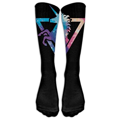 Unisex Galaxy Unicorn Athletic Baseball Running Tube Socks With Knee High Long Socks