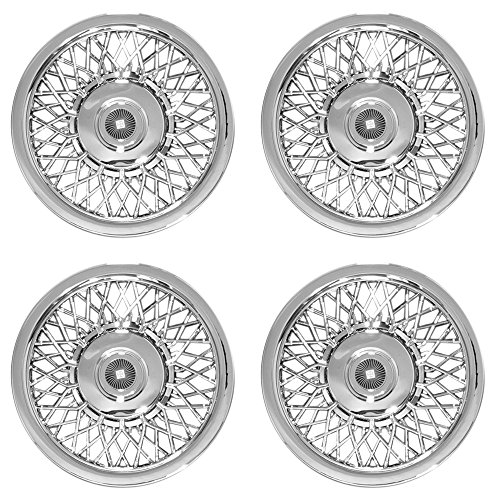 OxGord Hub-Caps for Select Buick LeSabre (Pack of 4) 15 Inch Chrome Wheel Covers
