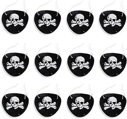 bedruckt 12 St/ück Piraten-Masken f/ür Kinderpartys