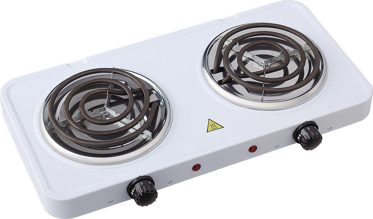 Uniqueware Double Burner Portable Buffet Range, (Double Burner, White)
