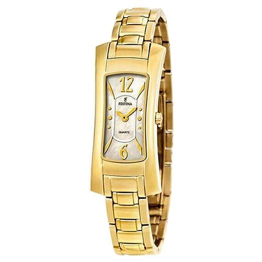 Reloj Festina de mujer chapado con 5 micras de oro. W.R. 3 ATM: Amazon.es: Relojes