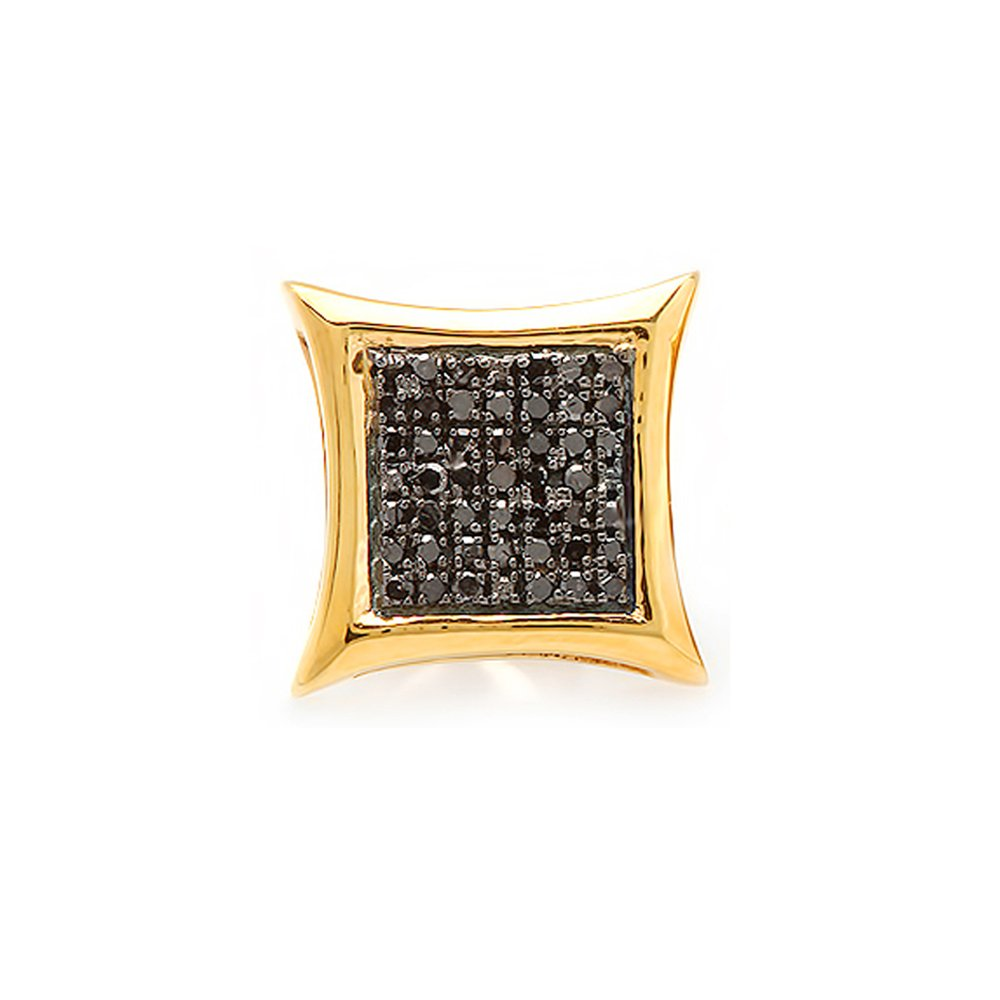 Round Black Diamond Micro Pave Setting Kite Shape Stud Earring 1//4 CT ctw Dazzlingrock Collection 0.13 Carat Only 1pc