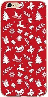 ERQINGT Etui pour Téléphone Portable Joyeux Noël Téléphone Case Cover pour Iphone 5 5S 5 Se 6 6S Soft Shell pour Iphone 8 7 7 Plus X