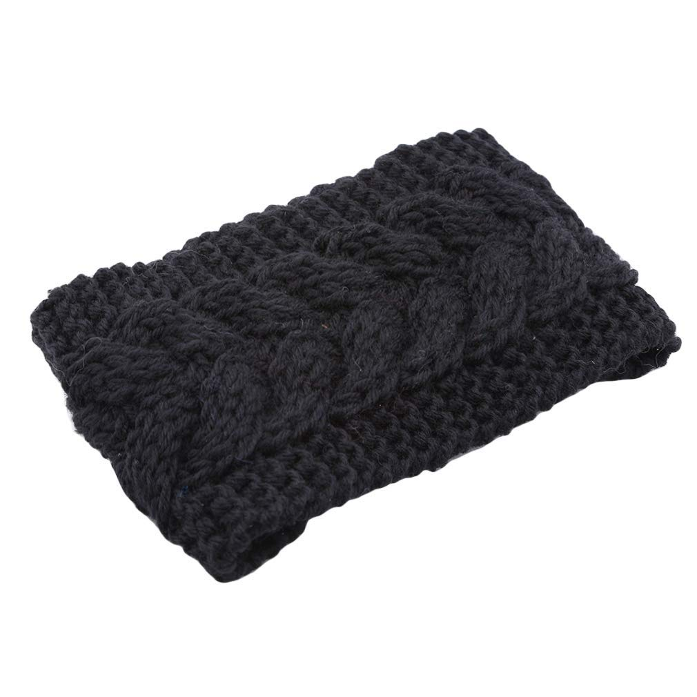Yevison Premium Quality Chunky Knit Headbands Braided Winter Headbands Ear Warmers Crochet Head Wraps For Women,Black by Yevison