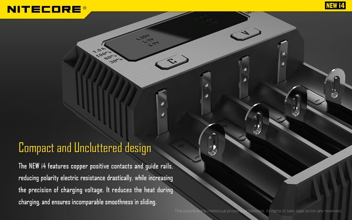 BBX3 power cords with EdisonBright BBX3 battery carry case New i4 2016 Car NITECORE New i4 2016 universal smart battery Charger with Ac and 12V DC