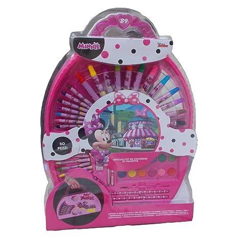 Special Kit De Coloriage Minnie Disney Mallette 50 Pieces Couleurs