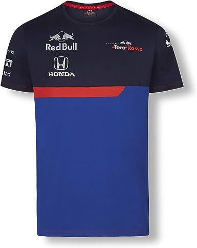 Red Bull Toro Rosso Official Teamline Camiseta, Azul Hombre Large Top, STR F1 2019 Original Ropa & Accesorios: Amazon.es: Ropa y accesorios