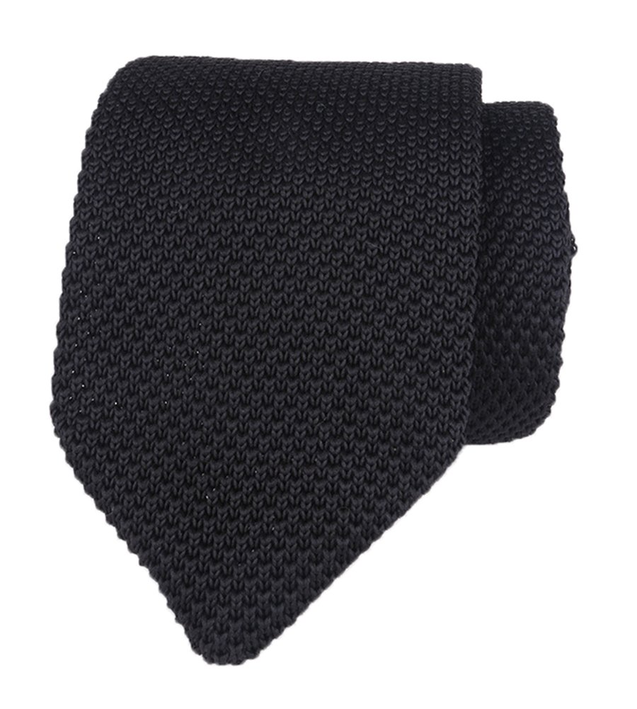 Men Woven Solid Black Skinny Extra Long Ties Best Gift for Brother Son Grandson