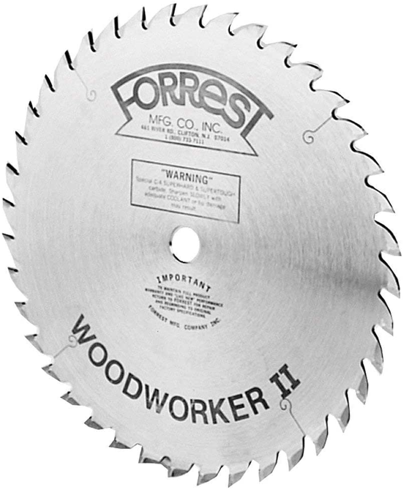 Forrest WW12487125A Woodworker II 12-Inch 48 Tooth ATB 1/8-Inch Kerf Saw Blade with 5/8-Inch Arbor