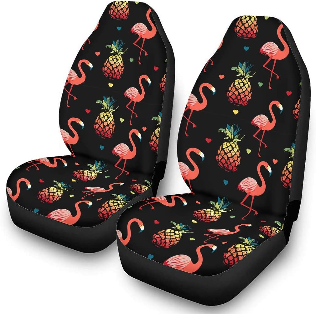 IOVEQG Flamingo Seat Covers Bucket Covers Size Universal for Car SUV /& Truck