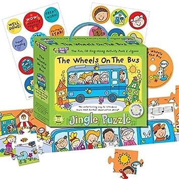 """Música para Niños - Rompecabezas cascabeleo""""las ruedas en el autobús"""""""