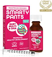 SmartyPants Baby Multi & DHA Liquid Multivitamin: Vitamin C, D3, E, Gluten Free, Choline, Lutein, for Infants 6-24 Months, I