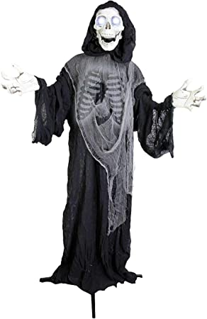 """Details about  /Halloween Animated Hanging Grim Reaper Ghost in Black Horror Robe Outdoor 36/"""""""
