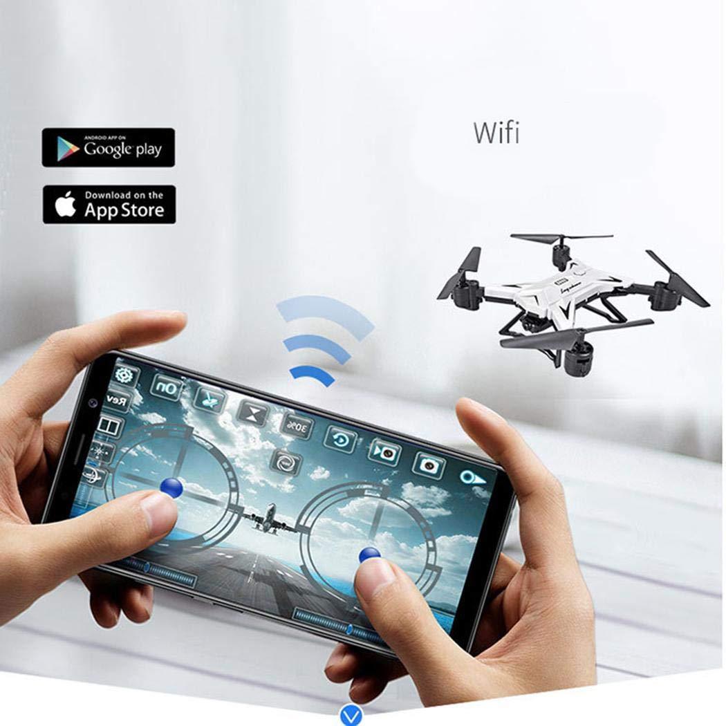 yagot Quadcopter Plegable Drone Aeronave de Control Remoto aéreo en Tiempo Real Fotografía Control Remoto Aviones Quadcopters (Estándar, 30W, 500W) (Blanco estándar)