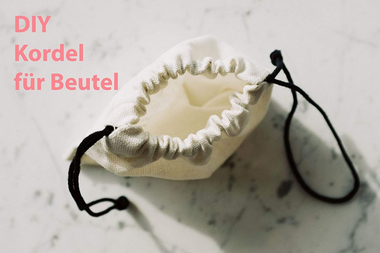 Turnbeutelliebe/® Cord/ón 100/% algod/ón 8 mm de Ancho para Bolsas de Deporte y Bolsas 10 m Cinta Trenzado Cuerda Natural Cuerda Cuerda para Manualidades