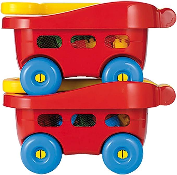 7600001579 Multicolore Ecoiffier-7600001579 Abrick Trolley 60 Pezzi