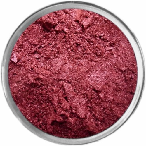 Bordeaux Loose Powder Mineral Shimmer Multi Use Eyes Face Color Makeup Bare Earth Pigment Minerals Make Up Cosmetics By M*A*D Minerals Cruelty Free - 10 Gram Sized Sifter Jar