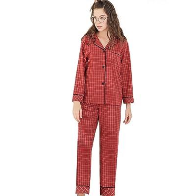 revendeur prix attractif nouveau design GWELL Ensemble de Pyjama Femme Manches Longues Chemise de ...