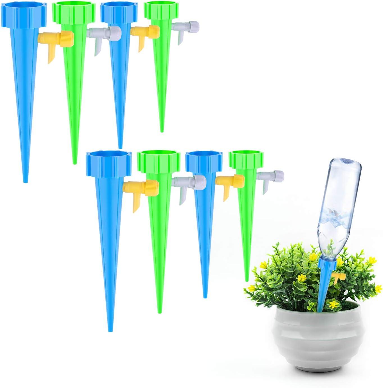 plante syst/ème de pointes darrosage automatique des plantes Syst/ème dirrigation automatique de 12 pi/èces abreuvoir automatique pour plantes avec interrupteur de vanne de contr/ôle pour jardin
