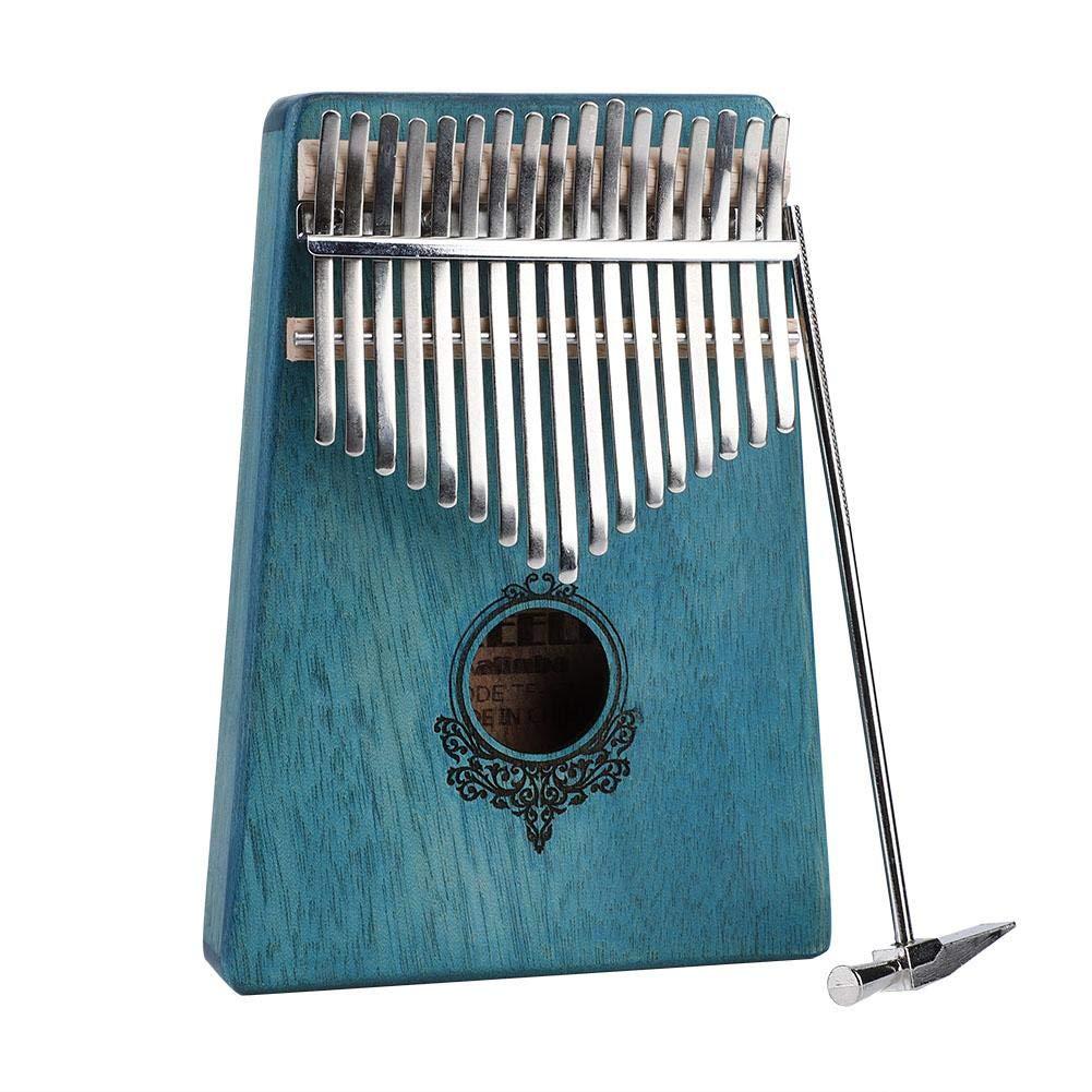 17 Key Kalimba Thumb Piano,Portable Mahogany Wooden Body Musical Instrument(Mint Green) by Yosoo-