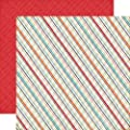 Echo Park That's My Boy Plaid 12x12 Scrapbook Paper