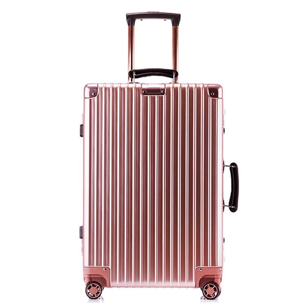 スーツケーストロリー手持ちのキャビン荷物ハードシェルトラベルバッグ軽量4スピナーホイール。防水通気性、耐摩耗性、耐衝撃性 41*29*61CM B07T5SK1WL Rose gold