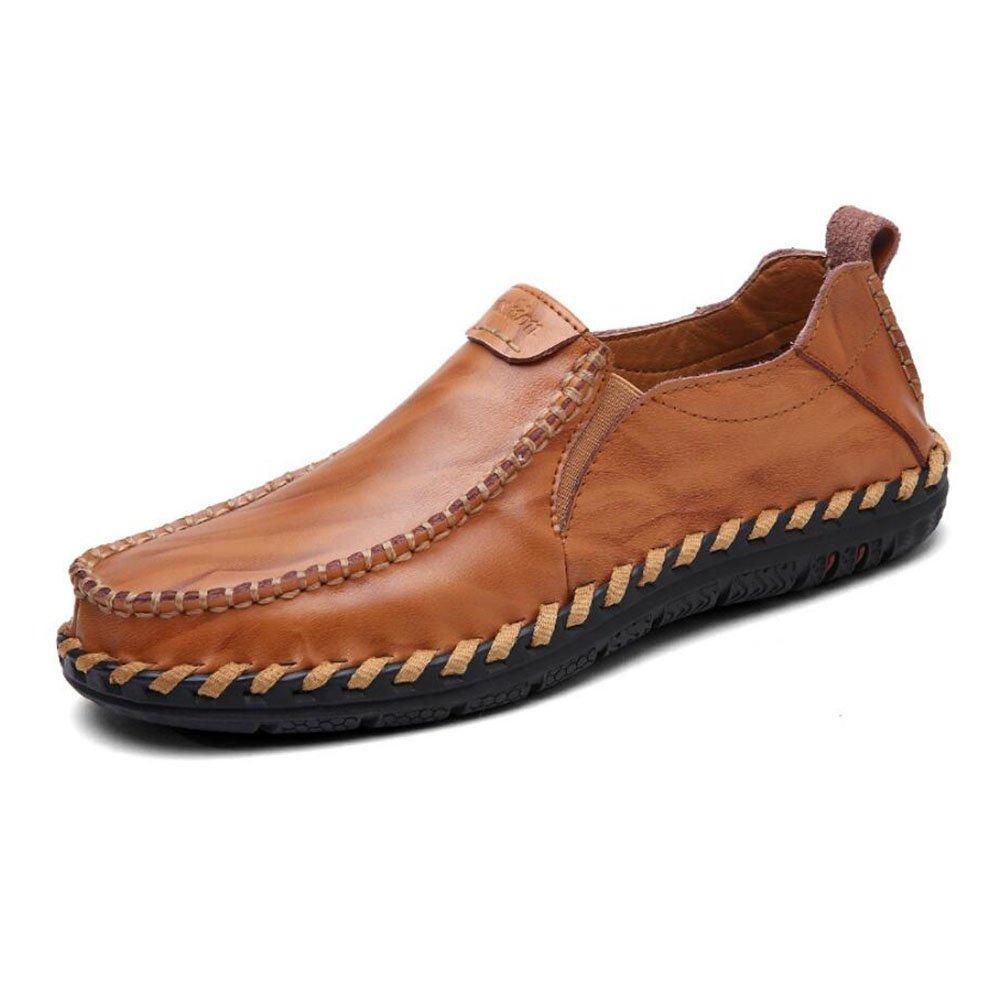 CAI Männer Loafers & Slip-Ons 2018 Vier Jahreszeiten Comfort Herren Outdoor/Reisen Driving Schuhes/Radfahren Schuhe/Flache Loafers (Farbe : Braun, Größe : 44)