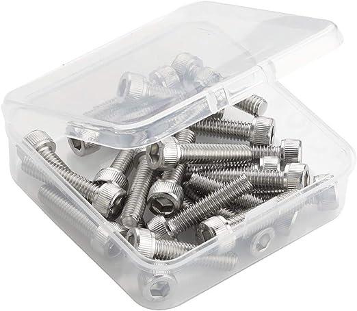 M6-1.0 x 30mm Button Head Socket Cap Screws Stainless Steel 18-8 25 PCS Allen Socket Drive Full Thread