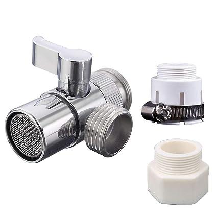 Brass Sink Valve Diverter Faucet Splitter For Kitchen or Bathroom Sink  Faucet Faucet to Hose Adapter With Universal Faucet Adaptor Splitter Part  ...