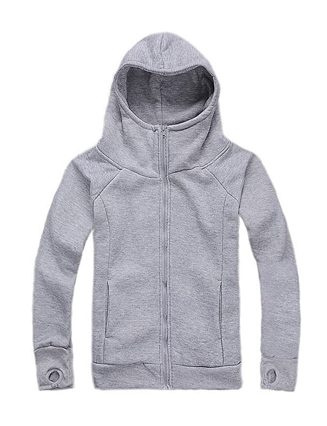 865a8c83b Amazon.com: Bestgift Men's Thumb Hole Hooded Zipper Sweatshirts: Clothing