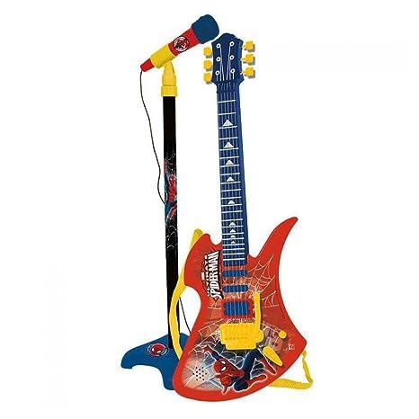 Microfono guitarra electrica Spiderman Marvel