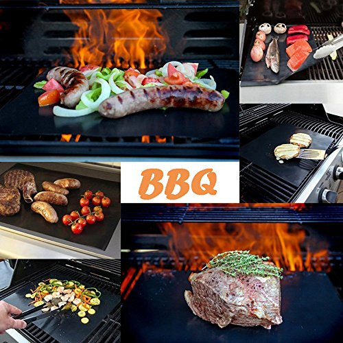 T-Language 6 Sheet Grill Mat, Reusable Barbecue Mat, Suitable For ovens, Gas Stoves, Charcoal Grills, Etc Dimensions: 15.75 x 13 Inches by T-Language (Image #1)