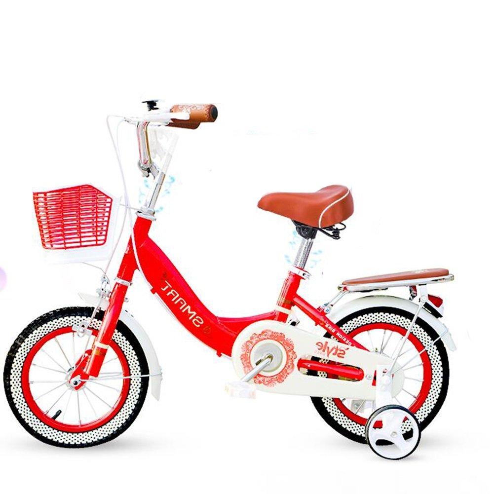 XQ- Bicicleta para niños 12 pulgadas Princesa niña Sección Bicicleta para bebés Carrocitos para bebés