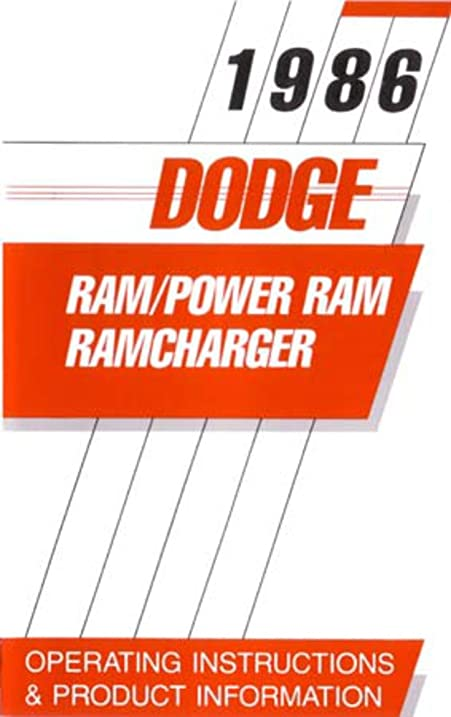 amazon com 1986 dodge ram truck power ramcharger owners manual user rh amazon com dodge challenger user guide 2012 dodge journey user guide