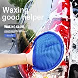 DeemoShop Car Wash Clean Sponge Brush Glass Cleaner Blue Wave Auto Triangle Maintenance Cleaning Tool Accessories 2018 Auto Gloves