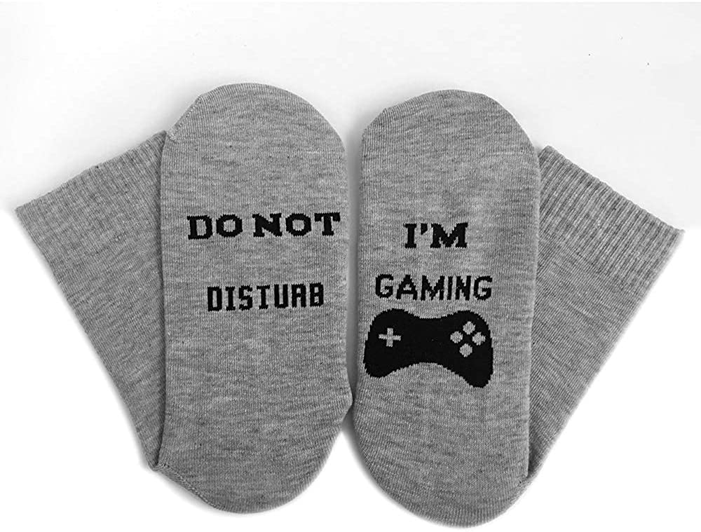 Folouse Do Not Disturb Im Gaming Funny Novelty Cotton Socks Great Gifts for Teenage Boys Game Lovers