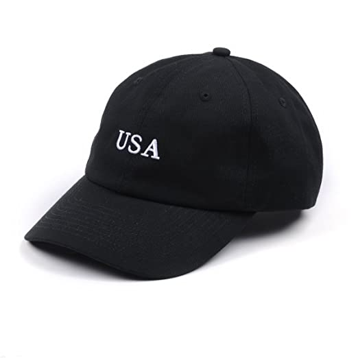 871ee1aeab3 AUNG CROWN USA Hats Embroidered Dad Hats Men Women 100% Cotton Adjustable  Baseball Caps (