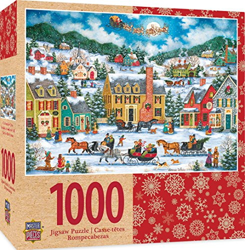 MasterPieces Seasonal Holiday Jigsaw Puzzle, Christmas Eve Fly By, Featuring Art by Bonnie White, 1000 Pieces