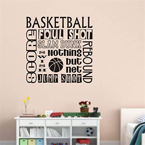 Baloncesto letras vinilo pared calcomanía cita deporte ...