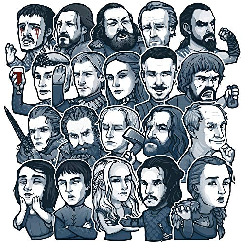 CraftsToCollect Game of Thrones Stickers, Winter is Here Sticker Set (20 PCS), Waterproof, Game of Thrones Decals, Exclusive Season 8 Finale