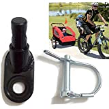 Bicycle Trailer Hitch Coupler Mount Attachment, MASO-AUTO Bike Rear Racks Axle Steel Adapter Replacement Cycling Accessory fo