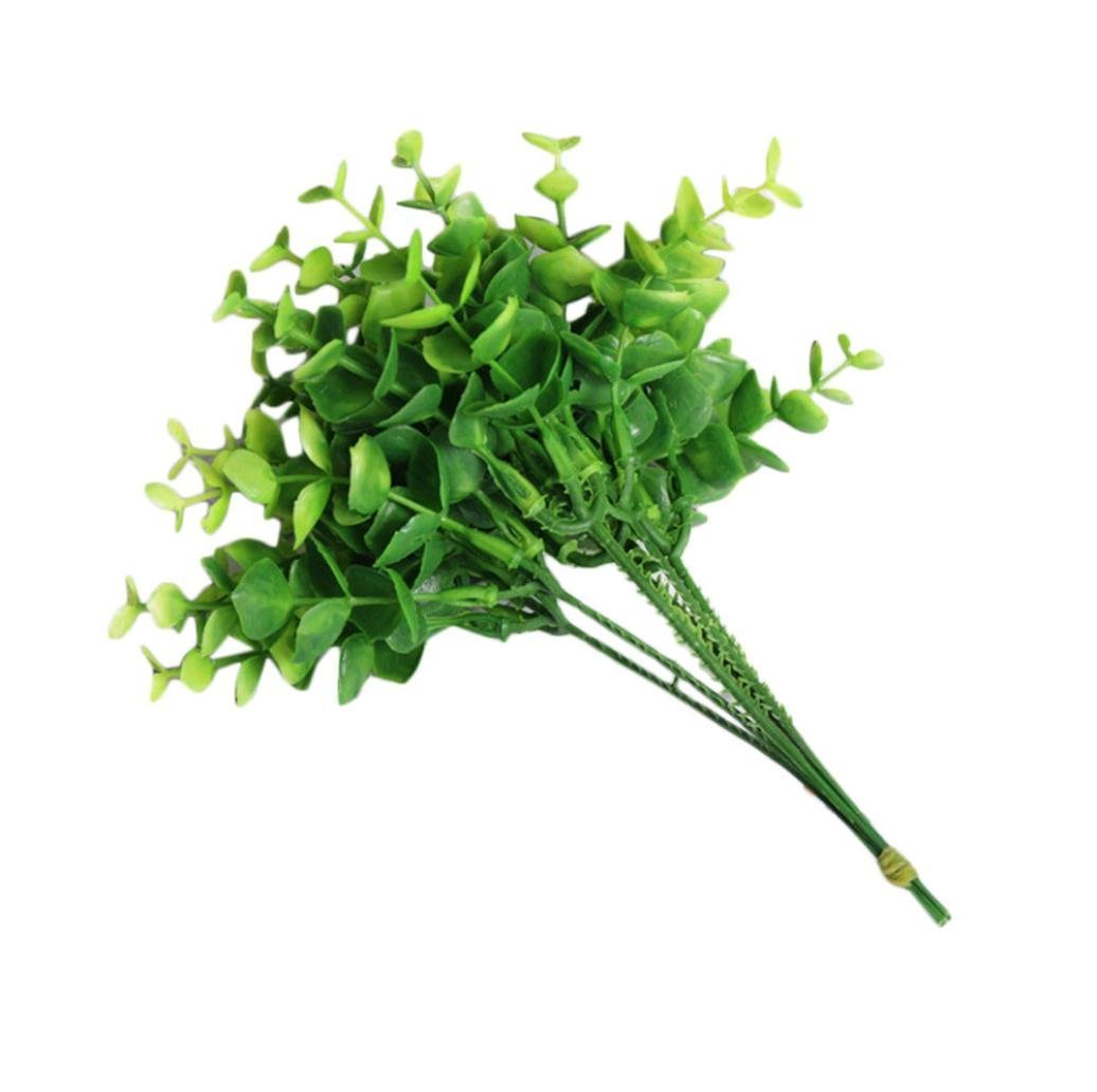 certainPL Natural Latex Artificial Plant, Decorative Plant for Home, Wedding Decoration (Green)