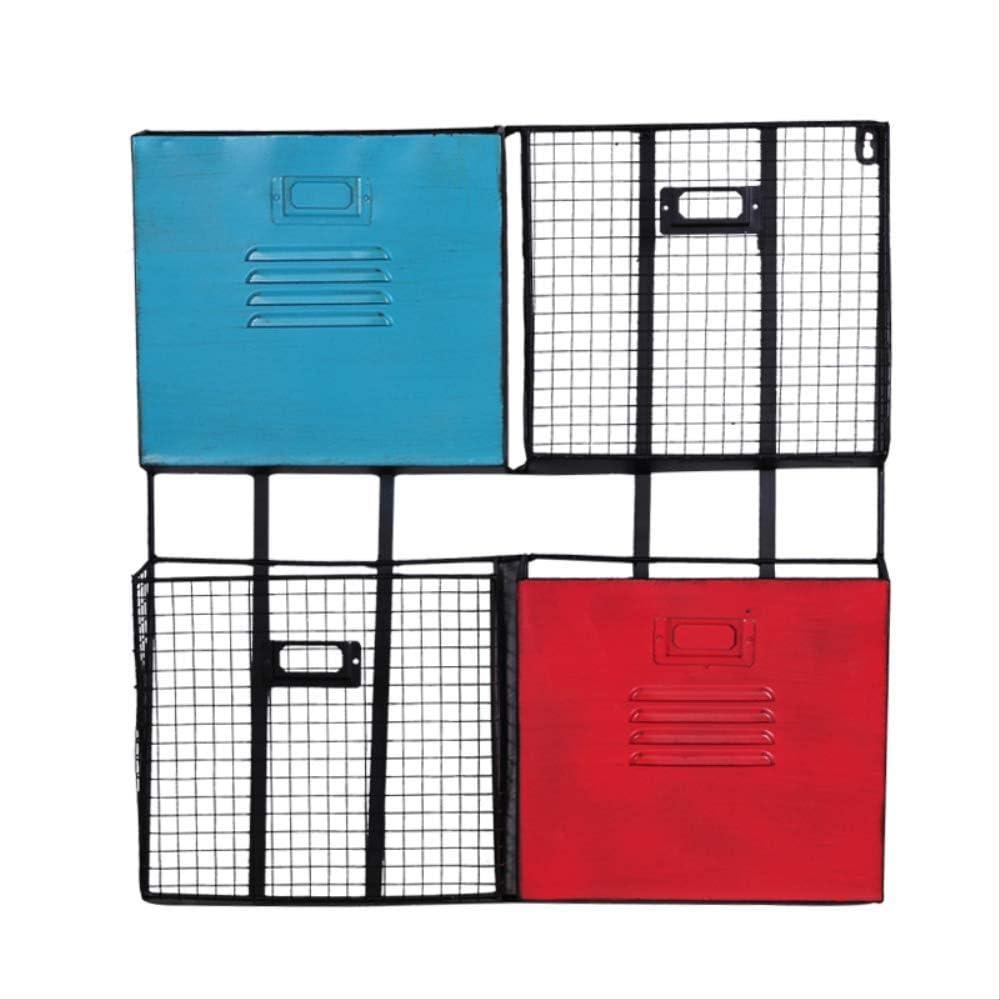 Revistero SFBBAOSimple Wrought Iron Office Multi-Layer Magazine Peri/ódico Rack Pared Colgando Cesta Pared Colgante 54 51 1