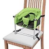 Portable high Chair, Feeding Seat W/ Carrying Bag, Folding High Chair for Home & Travel, Toddler Highchair Straps to Kitchen