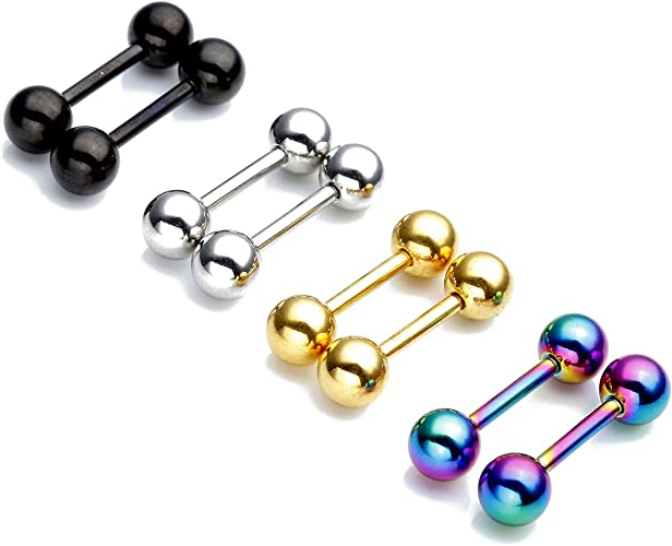 Post ONLY 12g 7//16 Steel Navel Body Jewelry Titanium Straight Barbell High Polish