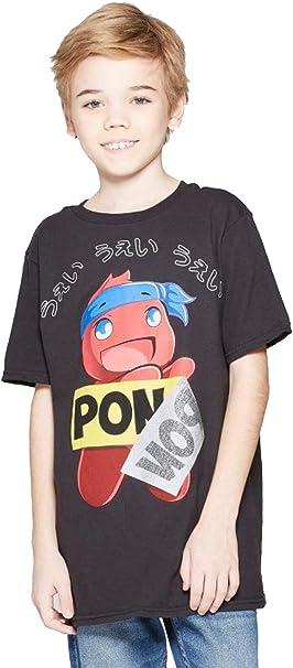 Amazon.com: Ninja Boys Pon Pon Short Sleeve T-Shirt - Black ...