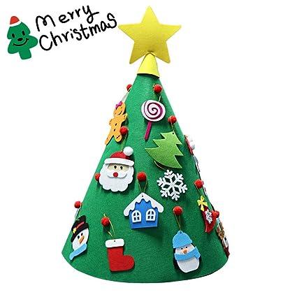 Forxmas Diy Felt Christmas Set With Detachable Christmas Ornaments Christmas Decorations Xmas Trees Decor For Kids 3d Tree Felt