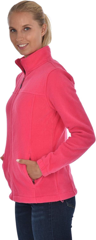 Swiss Alps Womens Full Zip Polar Fleece Jacket Sweatshirt with Pockets