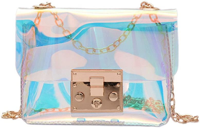 Women's Transparent Hologram Purse Holographic Shoulder Bag