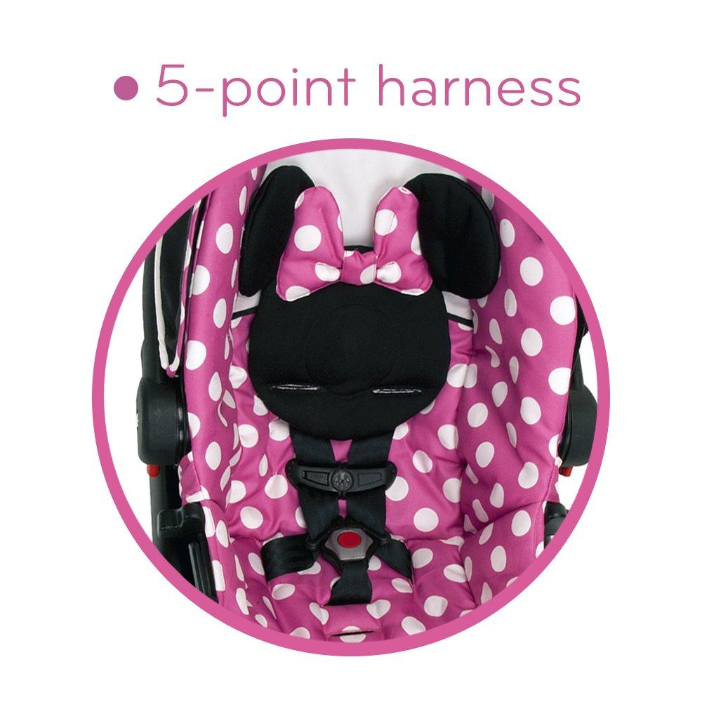 Amazon.com : Disney Light \'n Comfy Luxe Infant Car Seat, Minnie Dot ...